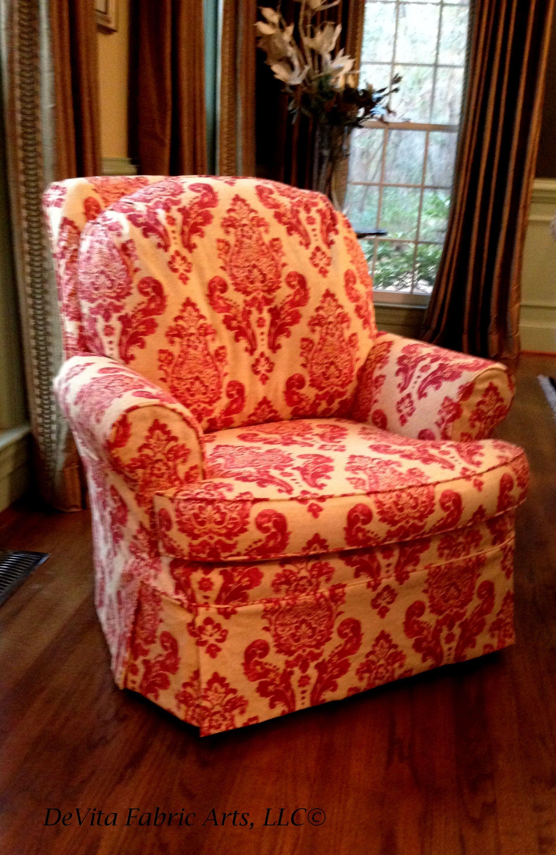 ... Damask Chair Slipcover ...