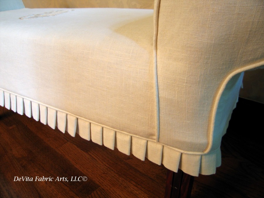 Pleated Edging on Slipcover