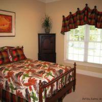 warm toned bedroom fabric set